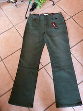 SAHNESTÜCK: Stretch Jeans Hose MILLION X Linda Gr 36 NEU! dark green Used Look