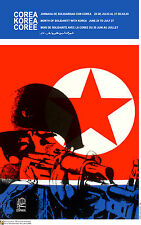 Political POSTER.North KOREA Communist Army.Korean.Asia.Cold War Art Design.34