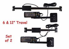 "Digital Readout DRO Set 6"" and 12"" Igaging AC Power Articulating Remote Display"
