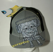 SpongeBob SquarePants Grey Baseball Cap Hat NOS New Youth Tag 2011