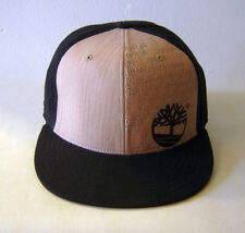 "NWT Timberland Fitted Baseball Cap Ball Hat 7 1/2"" Black & Tan 100% Authentic"