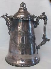ANTIQUE Silver Plate VICTORIAN Coffee Pot Water Pitcher 1854