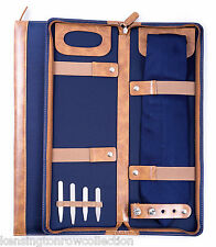 "MENS GIFTS - ""GLASTONBURY"" TRAVEL TIE CASE - BLUE BALLISTIC NYLON"