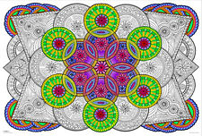 Mandala Challenge - Giant Coloring Poster (32½ x 22 Inches)