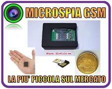 MICROSPIA AMBIENTALE GSM TELEFONO VOX MINI MICRO SPIA LA + PICCOLA DI SEMPRE