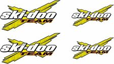 SKI-DOO Team X 4 PACK Logo YELLOW vinyl vehicle decal and window sticker graphic