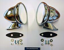 MG Midget Classic Chrome Racing/ Bullet Wing Mirrors (pair) GAM105