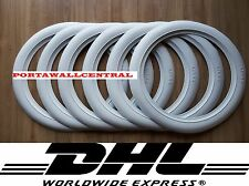 Firestone tire style 14'' White Wall Tyre Insert Trim Port-a-wall - Set of 6.