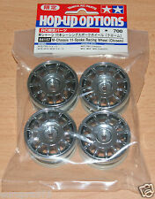 Tamiya 84157 M-Chassis 11-Spoke Racing Wheel (Chrome) (M03/M04/M05/M06/) NIP