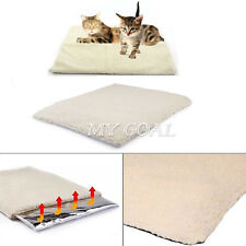 Pet Warm Fleece Cushion Bed Super Soft Self Heating Cat Dog Rug Mattress Thermal