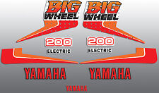 YAMAHA 1986 BW200 ELECTRIC START DECAL KIT WICKED TOUGH