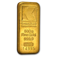 500 gram Gold Bar (Secondary Market) .9999 Fine - SKU #80202