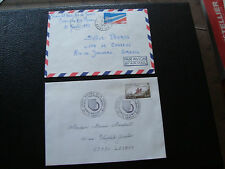 FRANCE - 2 enveloppes 1976 1977 (cy70) french