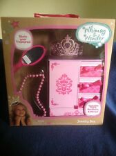 Whimsy & Wonder Pink Jewelry Box With Tiara, Necklace, & Mirror NIB
