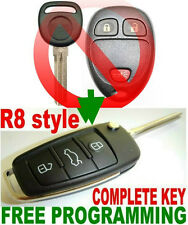 R8 STYLE FLIP KEY REMOTE FOR SATURN VUE TRANSPONDER CHIP KEYLESS ENTRY FOB EAR