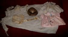 Antique Christening Set Vintage Doll Clothes Dresses Bonnet Hat Child Victorian