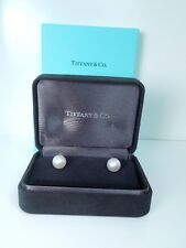 TIFFANY & CO Cultured PEARL AAA 9-9.5mm 18 k EARRINGS * GAL Appraisal
