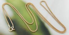"""GOLD OVERLAY STERLING SILVER 24"""" L WHEAT CHAIN NECKLACE VINTAGE #693U"""