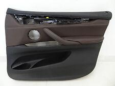 BMW X5 F15 Türpappe Vorne Rechts Schwarz Braun  Leder Door Panels 2013 right RR