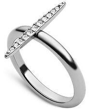 Michael Kors Matchstick Ring in Silver-Tone MKJ3523040 Size 8 BNWT Authentic