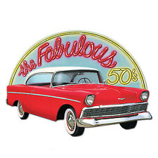 Fab 50's CHEVY BEL AIR Diecut CUTOUT Party DECORATION Sock Hop HAPPY DAYS Grease