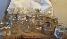 20 Wedding Centrepiece Jars for Candles/Flowers Decorated Rustic/ Vintage Style