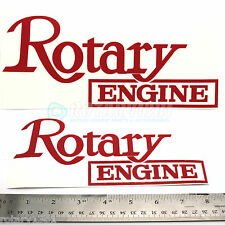 RED ROTARY ENGINE DECAL- WANKEL RX7 RX2 RX8 RX7 REPU R100 RE 12A 13B