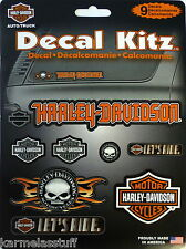 Harley-Davidson 9 pcs Decal Kitz Kit Stickers Decals NEW