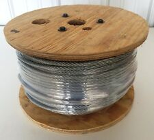 "250' 3/16"" 7x7 GALVANIZED AIRCRAFT CABLE WIRE ROPE 740lb W.L.View our eBay Store"