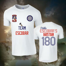 PABLO ESCOBAR DARTS T-SHIRT (ALL SIZES AVAILABLE) 180, NARCOS, PUB, FUN, NOVELTY