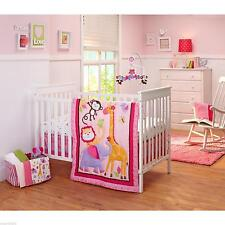 NoJo Little Bedding 3 Piece Crib Bedding Set - Tumble Jungle  - Girl