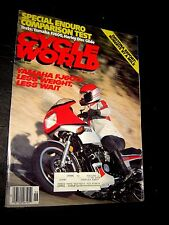 june 1984 CYCLE WORLD MAGAZINE,YAMAHA, HARLEY, KAWASAKI,SUZUKI motorcycle