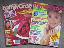 Vintage Sept & Oct 1986 FAMILY CIRCLE Magazines Great Birthday Anniversary Gift!