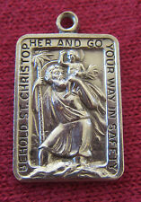 Vintage Catholic Religious Medal - STERLING - Saint Christopher - CALL PRIEST