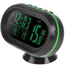 Freeze Alert DC12V LED Screen Car Thermometer Voltage Meter Noctilucous Clock
