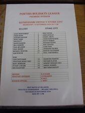 15/09/2004 Rotherham United riserve V Stoke City RESERVES [Bianco, nessun prezzo] (S