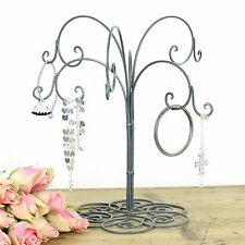Jewellery Hanger Holder Stand Metal Shabby Chic Necklace Earrings Bracelet Tree