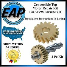 For 1987-1998 Porsche 911 Convertible Top Motor 2 Pc Gear Repair Kit L or R Side