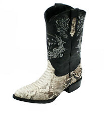 Men's Genuine Python Skin Leather Cowboy Western Boots Style J Toe