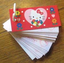 HELLO KITTY Sanrio TOKYO, JAPAN 1976-1997 Keychain Note Tags Mini Notebook