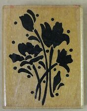 STAMPENDOUS Rubber Stamp WALLFOWERS E26 Flower Group Silhouette 1989 1.25 x 2""