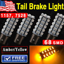 4 X Super Amber Yellow 1157 BAY15D 68-LED SMD Turn Signal Tail Brake Light Bulbs