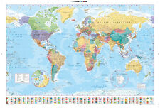 World Map Maxi Poster 61x91.5cm - GN0214