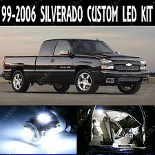 16 x Xenon White LED Lights Interior Package Kit For 1999-2006 Chevy Silverado
