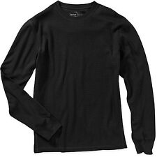 Men's thermal shirt Faded Glory long sleeve 100% cotton black size 2XL NWT