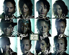 Norman Reedus Daryl Walking Dead 5 Headshots Cast Signed Photo Autograph Reprint