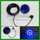 "(1) BLUE 9 LED Light Trailer 2"" round, w/plug,Grommet Clearance marker 2.0"""