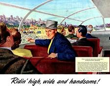 Print.  1948 Burlington Zephyr Advertisement