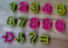 14 Pcs Numbers Symbols Cookie Fondant Clay Cutter Plunger  Mold Molder