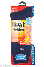 Ladies Original Heat Holders Thermal Boot Socks Plain Navy 4-8 uk, 37-42, 5-9 us